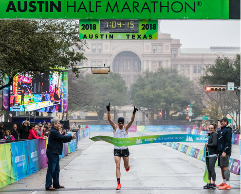 Patrick Smyth ran with the 2018 Austin Half Marathon Elite Athlete Program.
