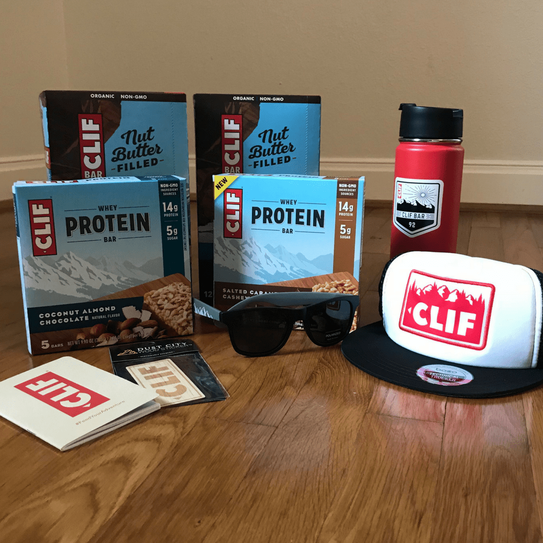 Clif Bar gift basket for Global Running Day.
