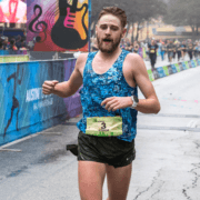 Daniel Bishop finishes 3rd overall at the 2018 Austin Marathon.