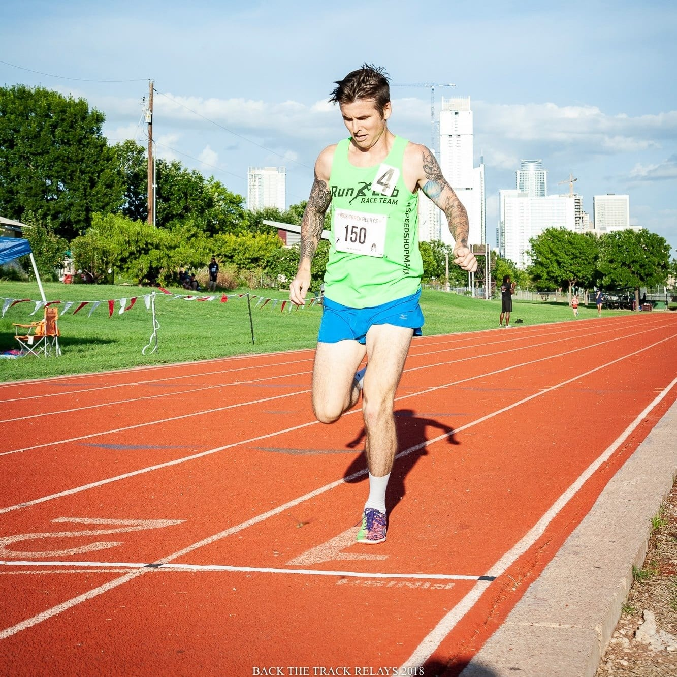 "Rory Tunningley is a member of the ""B"" standard pacing group at the Austin Marathon."