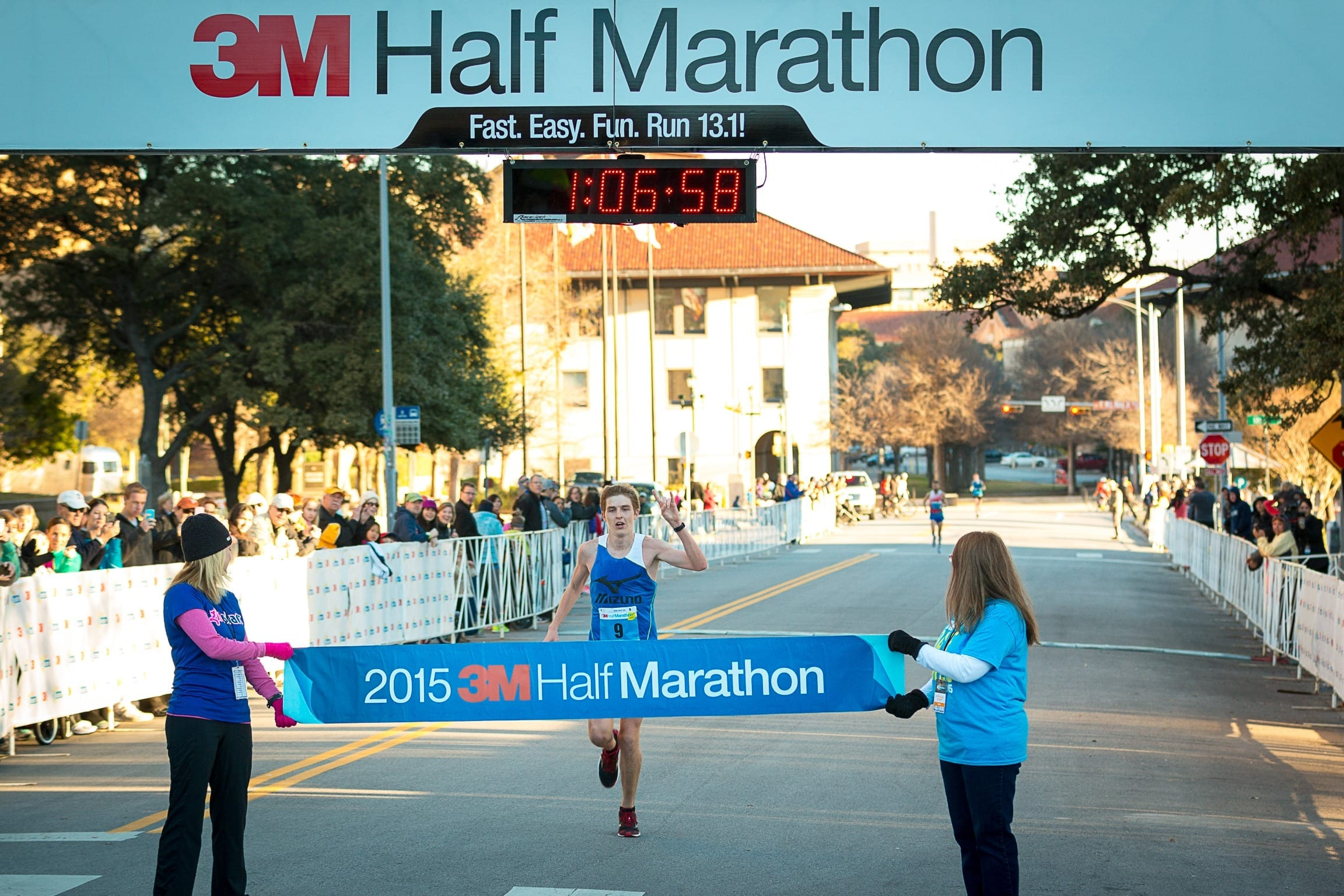 "Will Nation is a member of the ""B"" standard pacing group at the Austin Marathon."