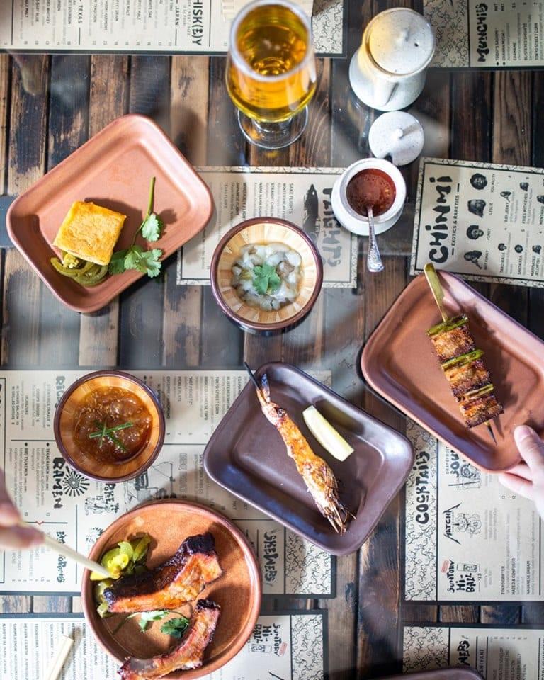A delicious spread at Kemuri Tatsu-Ya, one of the Austin Marathon's favorite East Austin restaurants.